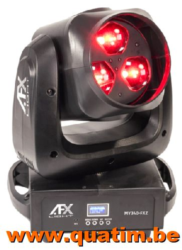 AFX Light MY340-FXZ Movinghead wash-beam-graphic 3 x 40W RGB
