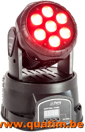 PARTY Sound & Light PARTY-WASH7 7 x 80W RGBW LED 4-in-1 movi
