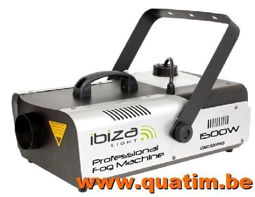IBIZA Light LSM1500PRO PRO rookmachine 1500W DMX