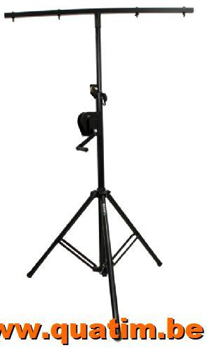 IBIZA Light SL010W Licht statief T-bar 1,2m met wind-up