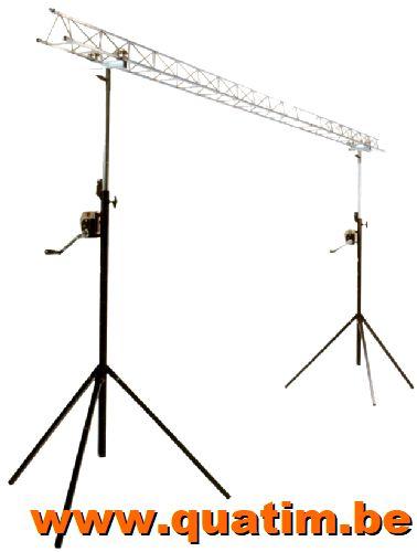 IBIZA Light SLB03W-Light lichtbrug 4 meters met wind-up