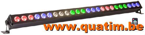 IBIZA Light LED BAR 24 x 4W RGBW 105cm DMX