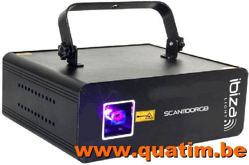 IBIZA Light SCAN1100RGB RGB laser 1100mW
