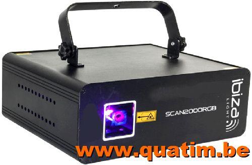 IBIZA Light SCAN2000RGB RGB laser 2000mW