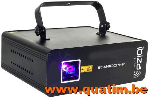 IBIZA Light SCAN1100PINK Laser Pink 1100mW