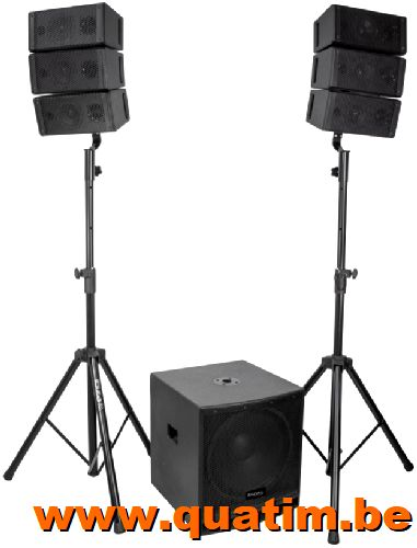 IBIZA sound CUBE15A-ARRAY 2.1 Actief systeem 800W BT-USB