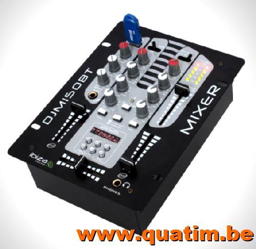 IBIZA sound DJM150USB-BT 2 kanaals mengpaneel USB en BT