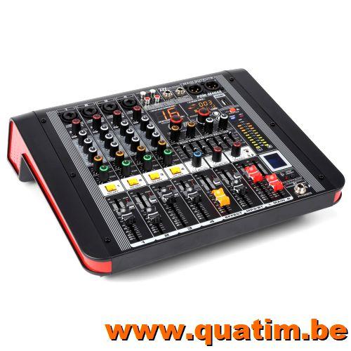 Power Dynamics PDM-M404A 4-Kanalen Studio Mixer met Versterk