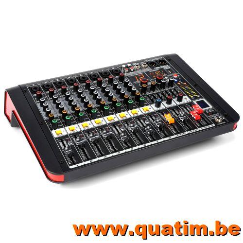 Power Dynamics PDM-M804A 8-Kanalen Studio Mixer met Versterk