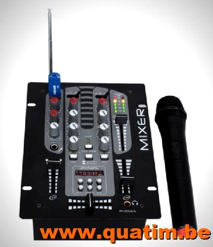 IBIZA sound DJM150BT-VHF 2 kanaals mengpaneel met draadloze