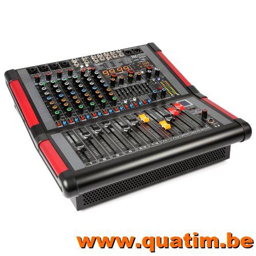 Power Dynamics PDM-S804A 8-Kanalen Stage Mixer met Versterke