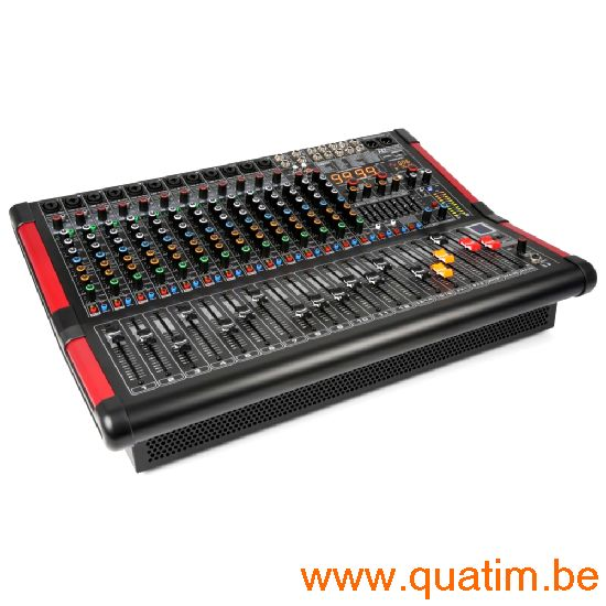 Power Dynamics PDM-S1604A 16-Kanalen Stage Mixer met Verster