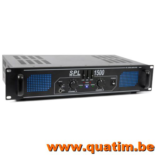 SkyTec SPL 1500EQ 2x 750W Versterker met equalizer