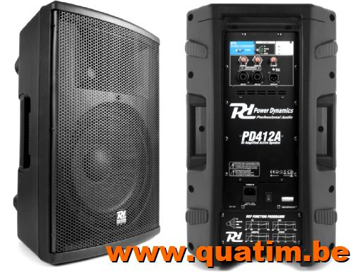 Power Dynamics PD412A Bi-amplified Actieve Speaker 12