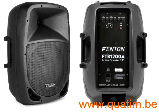 Fenton FTB1200A Actieve ABS Luidspreker 12