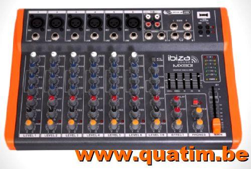 IBIZA sound MX801 COMPACTE 8-KANAALS MUZIEK MENGPANEEL