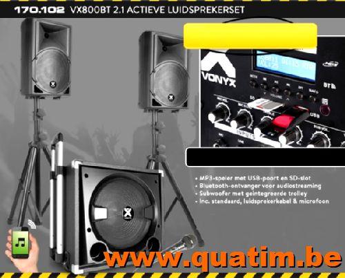 Vonyx VX800BT 2.1 Actieve Luidsprekerset 800W