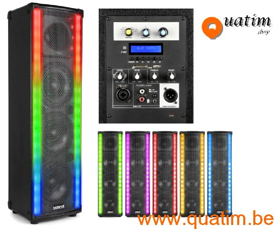 Vonyx LightMotion Draagbare PA luidspreker LM65 400W