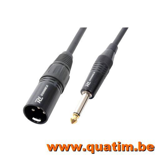 PD Connex Kabel XLR Male - 6.3 mono 8.0m