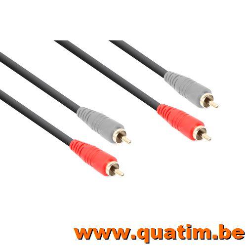 Vonyx Kabel 2x RCA Male - 2x RCA Male 1.5m