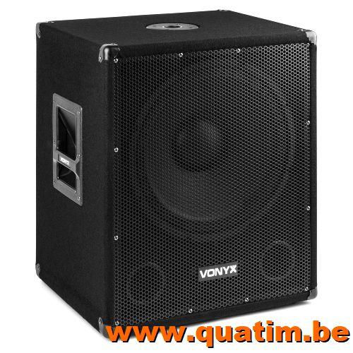 Vonyx SMWBA15MP3 Bi-AMP Subwoofer 15inch/600W & Bluetooth