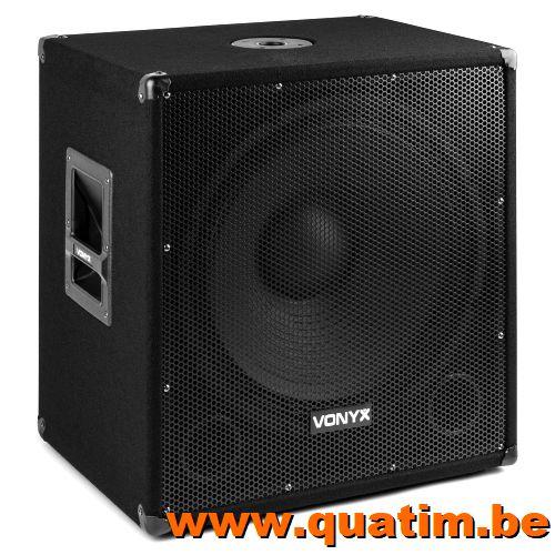 Vonyx SMWBA18MP3 Bi-AMP Subwoofer 18inch/1000W & Bluetooth