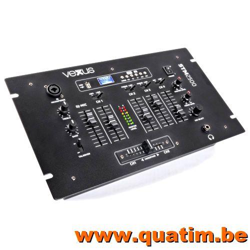 Vexus STM2500 5-Kanaals Mixer USB/MP3 met Bluetooth