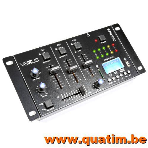 Vexus STM3030 4-Kanaals Mixer USB/MP3/BT/REC