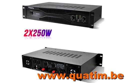 IBIZA Sound SA500 vermogenversterker 2 x 250W