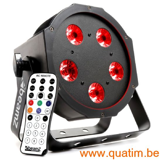 BeamZ BFP120 FlatPAR 5x 8W 4-in-1 LED's