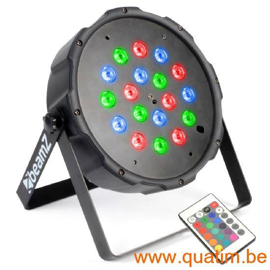 BeamZ FlatPAR 18x 1W RGB LEDs