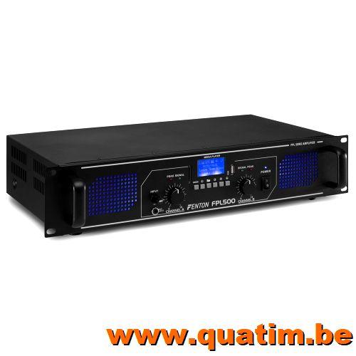 Fenton FPL500 Digitale Versterker blauwe LED + EQ