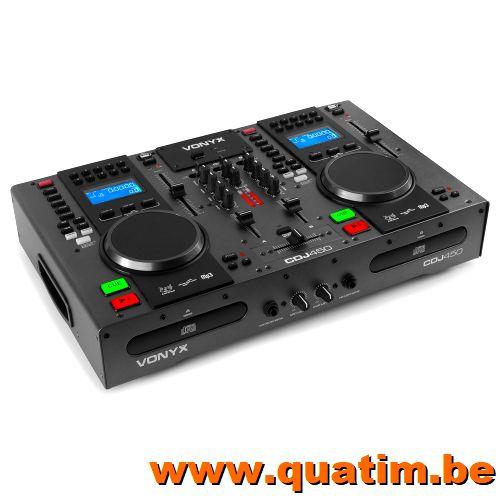 Vonyx CDJ450 Twin Top CD/MP3/USB Speler/Mixer met Bluetooth