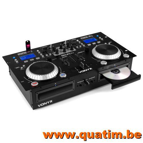 Vonyx CDJ500 Dubbele Speler met versterker CD/MP3/USB/Blueto