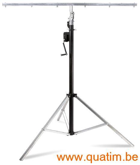 Beamz WLS35 Licht statief met T-bar 4,5 meter + Lier