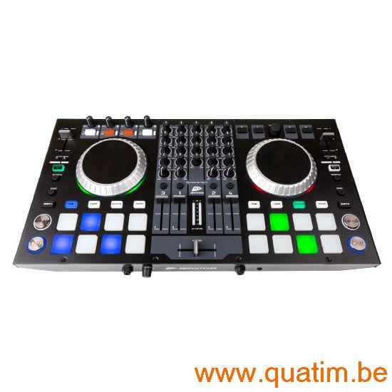 JB Systems DJ-Kontrol4 4-kanaals DJ controller incl virtual