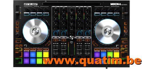 Reloop Mixon4 4-kanaals DJ controller Serato DJ en algoriddi