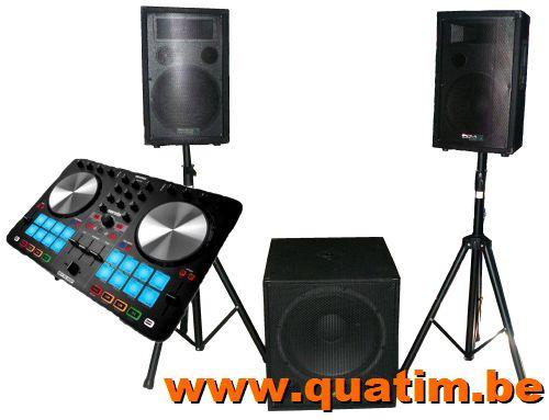 DJ set Beatmix2-MKII incl CUBE1812 speakerset