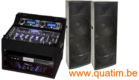 IBIZA sound DJ set DJ1000MKII met 2 x Dubbel 15