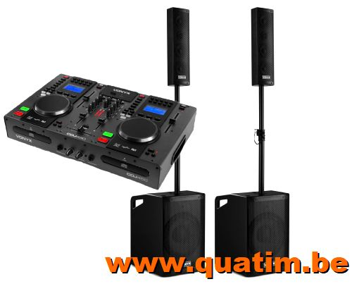 Vonyx DJ set CDJ450 + VX1050BT boxenset