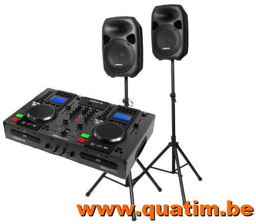 Vonyx DJ set CDJ450 + SPS122 700W