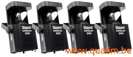 Lichtset Beamz 4 x Intiscan300 scanner 30W LED