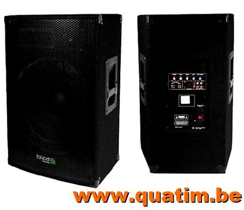 IBIZA sound DISCO15AMP actief speaker 800W