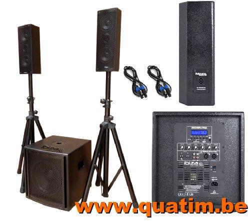 IBIZA Sound CUBE104 2.1 actief systeem 800W USB/Bluetooth