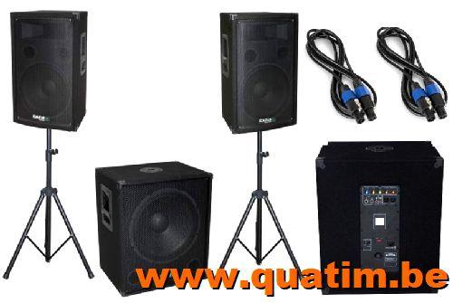 IBIZA Sound CUBE1512 - 2 x 12