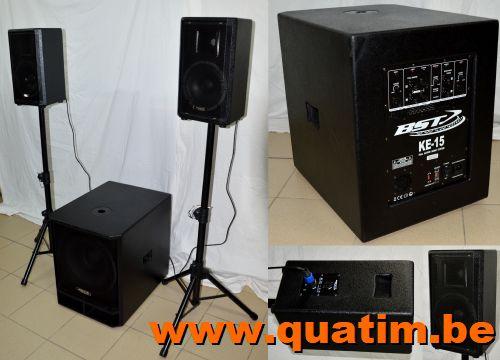 BST KE15 2.1 actieve boxenset 800Wrms