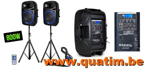 IBIZA Sound PKG12A-SET Actief speaker 2 x 12