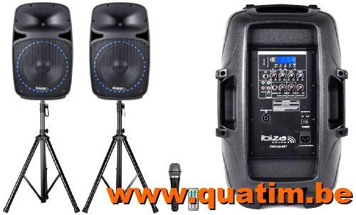 IBIZA Sound PKG15A-SET Actief speaker 2 x 15