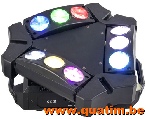 IBIZA Light 9BEAM-MINI 9 x 10W RGBW LED Spider effect