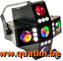IBIZA Light CROSS-GOBOFX 2-in-1 LED effect met 20 gobo's en